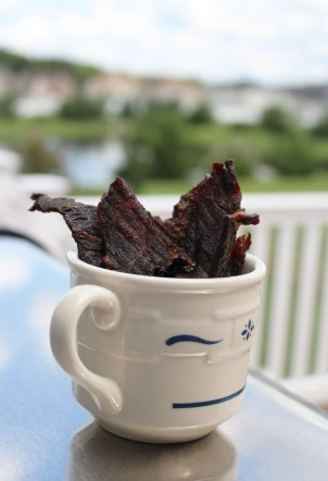 Delicious homemade jerky