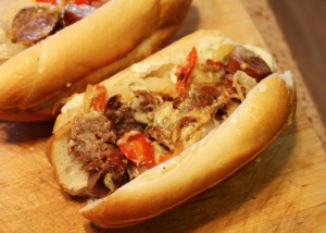 Easy sausage sandwich will make you a star ! ©2014 Deborah Kaplan