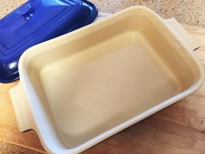 5-inch deep casserole dish.